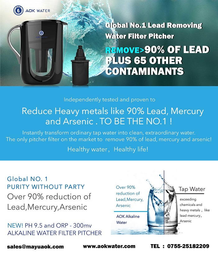 Global No.1 Lead Reoving Water Filter Pitcher