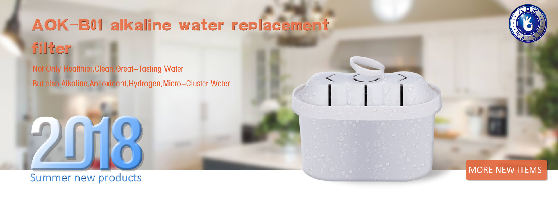 AOK-B01 alkaline water replacement filter